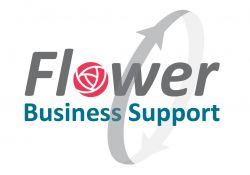 Logo Flower Business Support